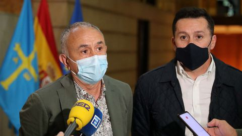 Los secretarios generales de UGT, Pepe Álvarez y UGT Asturias, Javier Fernández Lanero
