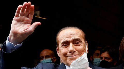 Silvio Berlusconi, el pasado febrero durante las negociaciones para formar Gobierno en Italia.