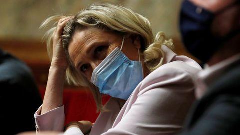 Marine Le Pen, este martes durante la sesión de control al Gobierno.