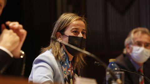 La conselleira de Infraestructuras, Ethel Vázquez