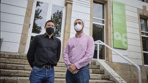 Pedro Orgeira y Carlos Ulloa, investigadores en el campus de Ourense