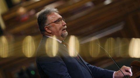 El diputado de Foro Asturias, Isidro Manuel Martínez Oblanca, durante una intervención en el Congreso de los Diputados