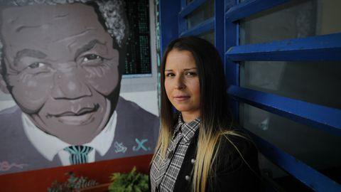 Mónica González Arias, reclusa y coordinadora de los internos en el módulo mixto Nelson Mandela de Teixeiro