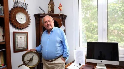 José Luis López-Sors, en su casa de Madrid