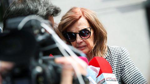 Maria Teresa Campos, en el velatorio de Mila Ximénez