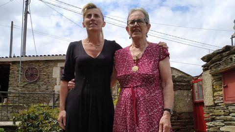 Amagoya con su madre, en una fotografía de hace dos años