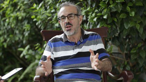 El exdirigente sandinista Luis Carrión, durante una entrevista el 18 de julio del 2019.