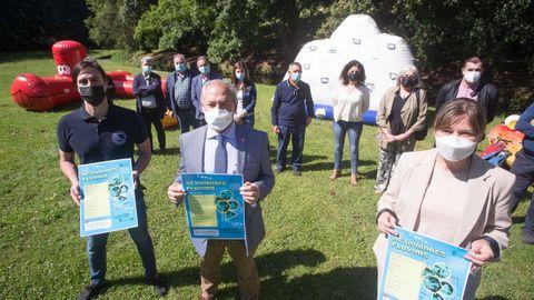 Presentación de las Actividades Fluviais en el río Rato a cargo del presidente de la Diputación y varios alcaldes de la provincia