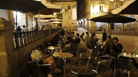 La ampliación de los horarios de la hostelería en Ourense, en una imagen de archivo