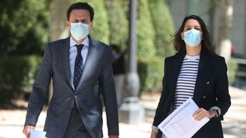 Edmundo Bal e Inés Arrimadas a su llegada al Tribunal Supremo