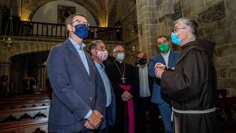 El presidente de Asturias, Cantabria y Galicia visitan el monasterio de Santo Toribia en Liébana