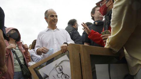 Jordi Turull, a su salida de prisión en Lledoners tras ser indultado