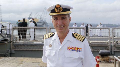 Santiago Vila Barrón, comandante de la 31.ª Escuadrilla de Superficie