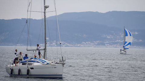 Imagen de los barcos llegando al Real Club Náutico de Portosín