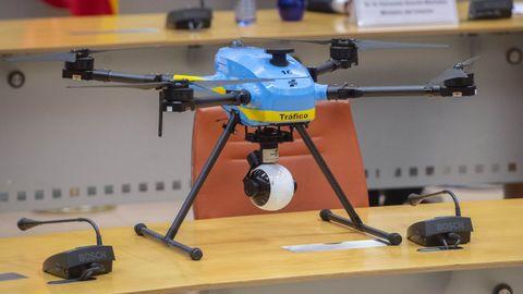 Uno de los drones mostrados en la presentación del dispositivo especial de tráfico de este verano