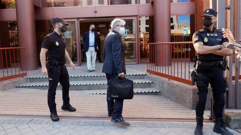 El exconsejero Francesc Homs a su llegada este martes al Tribunal de Cuentas en Madrid
