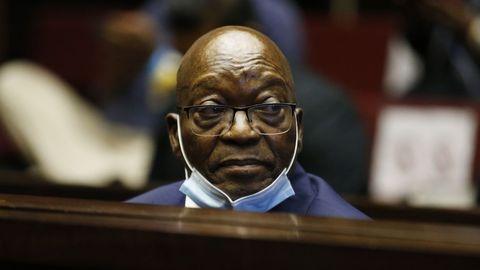El expresidente Jacob Zuma, durante su comparecencia ante el tribunal el pasado 29 de mayo.