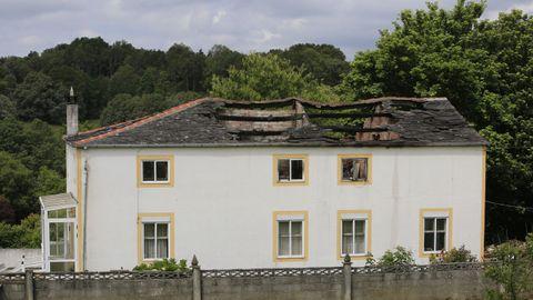 La cubierta fue la parte de la casa más dañada por el incendio