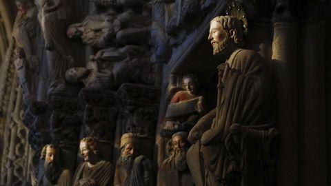 Pórtico de la Gloria, en la catedral de Santiago.