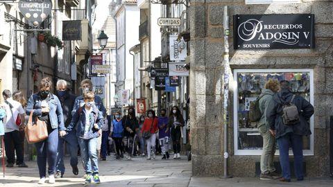 Rúa do Franco, en el casco histórico de Santiago.
