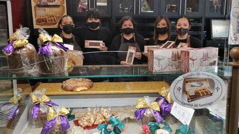 Foto de archivo de personal de la pastelería Anduriña, de Foz