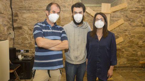Tres de los docentes impulsores del proyecto