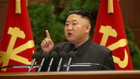 Kim Jong-Un, en una imagen distribuida por la agencia norcoreana de comunicación.