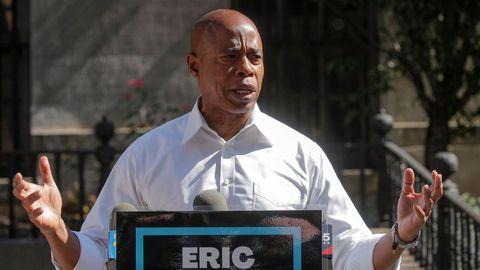Eric Adams es el candidato favorito a ocupar la Alcaldía de Nueva York.