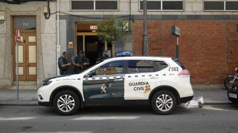 Agentes de la Guardia Civil en Monforte, en una fotografía de archivo