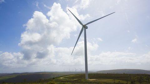 La Costa da Morte tiene ya numerosos parques eólicos, este en Pico de Meda (Zas)