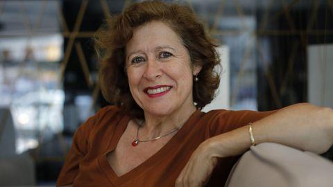 Berna González Harbour estuvo esta semana presentando «El pozo» en el ciclo «Somos o que lemos», que se vuelve a celebrar de forma presencial en la Fundación Luis Seoane de A Coruña