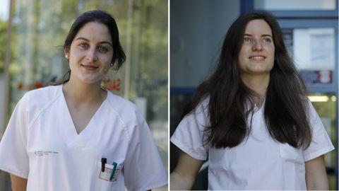 Vanesa Rojo (izquierda) y Cristina González (derecha) se han incorporado a los centros de salud de Os Rosales y Acea de Ama