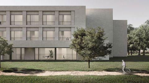 Recreación de las residencias que promueve la Fundación Amancio Ortega en las siete grandes ciudades gallegas.