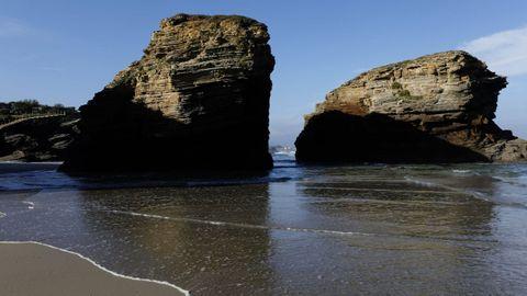 El verdadero nombre de la playa de As Catedrais, en Ribadeo, es Augas Santas