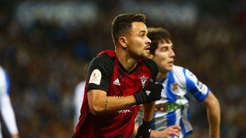 Matheus Aiás, durante el Mirandés-Real Sociedad de la Copa del Rey 19/20