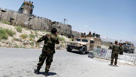 La fortificada base Bagram fue el centro de los ataques aéreos contra los talibanes.