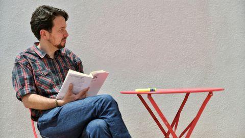La última foto pública de Pablo Iglesias, el 12 de mayo, cuando anunció que abandonaba la política