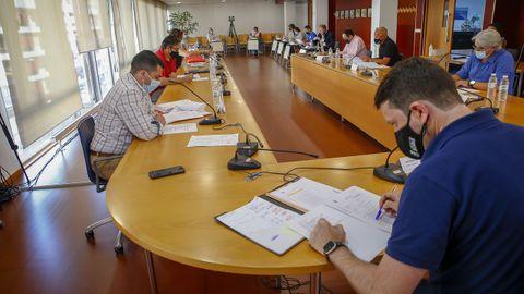 Imagen de archivo del pleno celebrado en junio, donde el PSOE presentó su propuesta de presupuestos