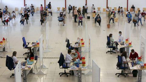 Imagen de la zona de vacunación habilitada en las instalaciones de FIMO