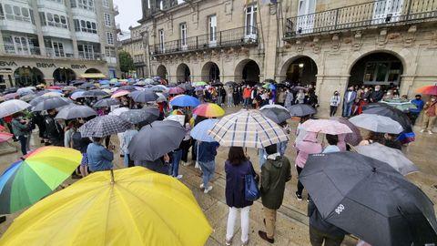 Decenas de personas en Lugo