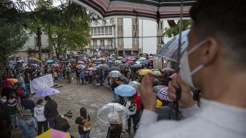Acto celebrado en Santiago para denunciar el asesinato de Samuel