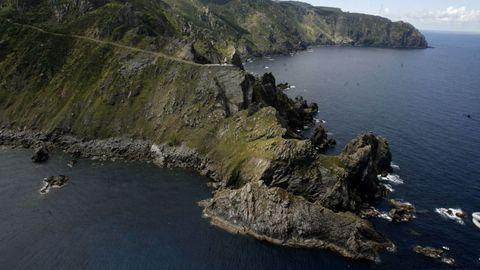 El cabo Ortegal visto desde el aire