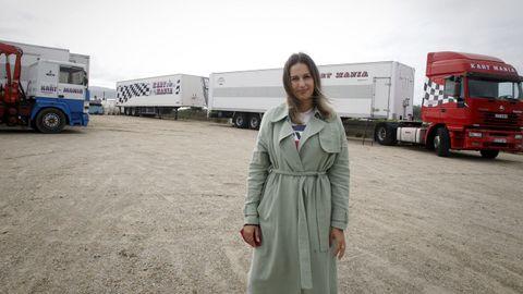 Patricia Penas lleva dos años sin poder trabajar en sus atracciones de feria a causa de la pandemia