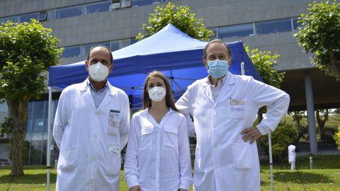 Celebración del trasplante renal número 3.500 en el Chuac. En la imagen, Rocío, que vivió en primera persona una operación de este tipo.
