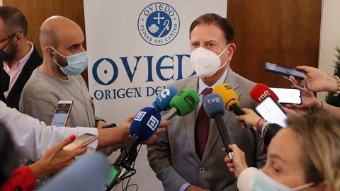El alcalde de Oviedo, Alfredo Canteli