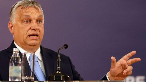 El primer ministro húngaro, Víktor Orbán, este jueves, durante una visita a Belgrado