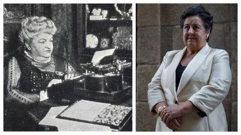 A narradora Emilia Pardo Bazán e a profesora María Pilar García Negro.