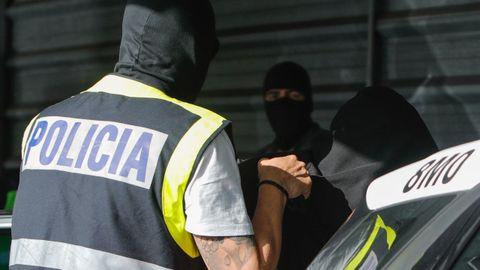Entrada a disposición judicial de los detenidos