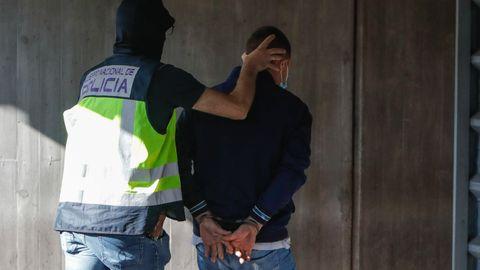 Entrada de los detenidos a disposición judicial