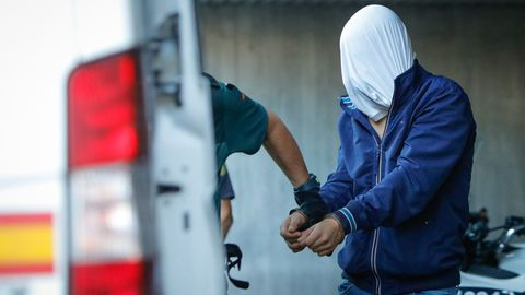 Entrada a disposición judicial de los detenidos por el crimen de Samuel